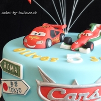 Cars 2 Cake Cars 2 cake with Lightening McQueen and Francesco