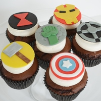 Avenger's Cupcakes  These avenger cupcakes were for a little boy's birthday! Thank you to the many avenger cupcakes for inspiration especially Bakery 325...