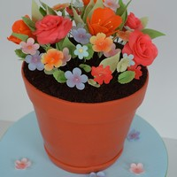 Flower Pot Cake This cake was created for a gardener.