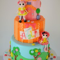 Lalaloopsy Birthday Cake  This Lalaloopsy cake was for a little girl turning three! It was inspired by The Little Cherry Cake company's Lalaloopsy cake. The...
