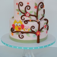 Happi Tree Baby Shower Cake This baby shower cake was based on the Happi Tree theme. Unfortunately, I can't find the designer of the cake that I based this...