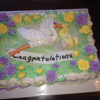 Baby Shower Cake Butter Cream And Fondant Found The Instuctions For The Stork On The Internet Lucky For Me Im A Good Student baby shower cake, butter cream and fondant, found the instuctions for the stork on the internet, lucky for me I'm a good student.