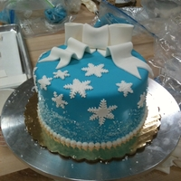 Snowflake Cake I made this cake at Carlo's Bake Shop in a cake decorating class. They gave us a demo and then we went ahead and made the cakes...