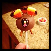 Thanksgiving Cake Pops These Thanksgiving turkey cake pops are lemon cake with vanilla frosting and then dipped in milk chocolate. The turkey's head is an...
