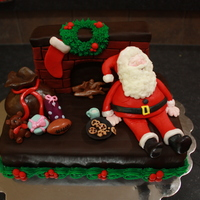 Santa Clause Cake Thank you to TheCakeUpArtist for the inspiration for this cake. The clients wanted a fun cake with Santa Clause on it for their 3 year old...
