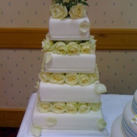 Fresh Rose freash roses wedding cake