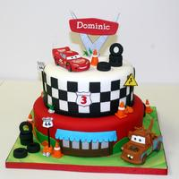 "Cars Themed 8 And 10 Round Cake Cars themed, 8"" and 10"" round cake"