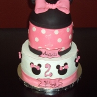 Minnie Mouse Buttercream with fondant accents.