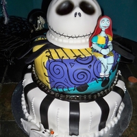 Nightmare Before The Wedding This Nightmare before Christmas Cake is actually for a wedding. The couple got married around Halloween so they made it a halloween themed...