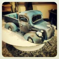 Truck truck cake for 70th birthday! he wanted it to look like an old truck he's had for years. its all rusted and bent up and he wanted the...