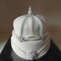 White Shaped Wedding Cake I made this one yesterday on a workshop