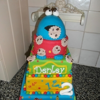 Sesame Street 7 kilo's of Sesame Street cake for 55 persons