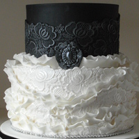 Wedding Cake Black And White black and white weddingcake