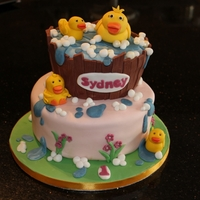 Duck Cake Chocolate fudge cake with chocolate gananche