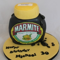Marmite Cake Marmite cake - you either love it or hate it!
