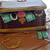 Treasure Box this cake was for a biride, in our tradition when a guy gets married he send a treasure box like this to the birde full of gifts and some...