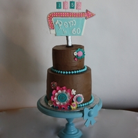 1950's Birthday Sign This 1950's themed cake was a Paleo cake - no sugar or wheat flour, but used coconut flour, honey, and grapeseed oil and eggs. The...