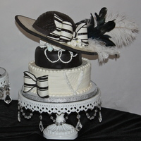 Kentucky Derby Hat Cake  Hat for Miss Cheri to celebrate her birthday trip to The Kentucky Derby. Everything is edible except the feathers. Hat is RKT and gumpaste...