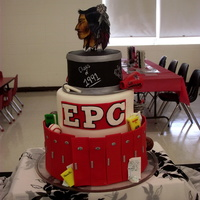 "E.p.c Class Of 1991 I made this cake for my 20 year class reunion. It is my last official cake after 10 years. Each teir was a different flavor: 6""- lemon..."