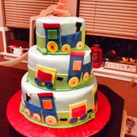 Train Cake *Cake for my nephew's 2nd birthday.
