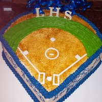 Softball Banquet Cake This cake was for the Lehman High School Girls Softball Team. They made the playoffs for the first time in school history!