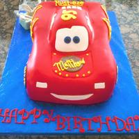 Lightning Mcqueen Birthday Fondant Car Cake My first attempt at a car cake i made for my 4 year old's birthday. He loved his cake..so thats all that matters. :)