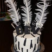 Zebra Print 60Th Birthday Cake