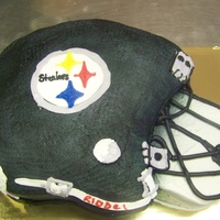 Steelers Helmet sculptured cake