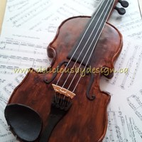 Violin Birthday Cake  My brother is a violinist and I've been waiting for a major birthday of his to be able to do this. It was my first time really doing...