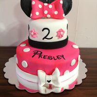 "This Was A Minnie Mouse Cake We Did For A Friend It Was A Blast To Do Homemade Mmf And Bc Frosting I Painted The Number And 2 On To Get This was a Minnie Mouse cake we did for a friend. It was a blast to do. Homemade MMF and BC frosting. I painted the number and ""2&quot..."