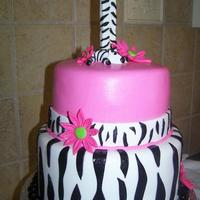 Zebra Birthday Cake Zebra Birthday Cake