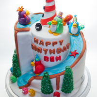 Club Penguin 3D Spiral Cake