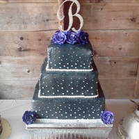 Dark Teal Wedding Cake