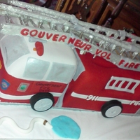 Fire Truck Cake This was my first fire truck cake.