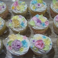 Spring Is In The Air...  This is the other dozen cupcakes that I donated to the Scholarship Foundation's Silent Auction. These are WASC with Lemon, Raspberry...