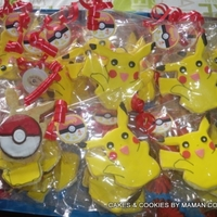 Pikacchu /pokeball Cookies