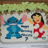 Lilo And Stitch Cake Lilo ans Stitch Palm sugar cookies