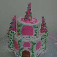Castle Themed Cake Castle Birthday cake with buttercream
