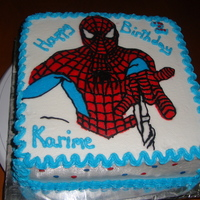 Spiderman Birthday Cake Buttercream decorated FBCT cake