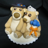 Teddy Bear Wedding Topper gumpaste and fondant mix