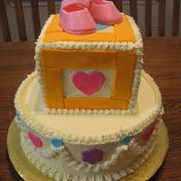 Cream And Pink Baby Shower Made for a friend of a friend. Based on design here on CC by LadyPol. This was my first time using gumpaste. Thanks to grannys3angels for...
