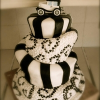 The Topsy Turvy Wedding Cake. First ever attempt at a wedding cake.