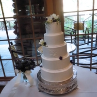 5 Tier Buttercream Wedding Cake