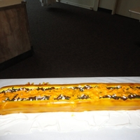 Philly Cheese Steak Cake The Philly cheese steak cake is 3 ft long and is made with marble cake. This was a really fun cake to make. The best part was delivering...