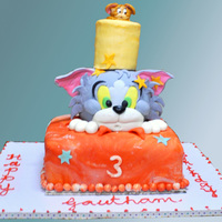 Debbie Brown's Tom And Jerry Cake   My son's 3rd birthday cake
