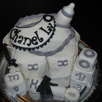 Chanel Diaper Bag Cake Here's my version of the Chanel Diaper bag cake, which was made for a new Mommy who named her baby Chanel Ly.