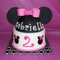 Minnie Mouse Cake Inspired by the many photos of Minnie cakes here on CC, for my baby girls birthday. Chocolate chip cake w/ buttercream, all decor made from...