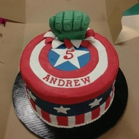 Avengers Captain America with Hulk's Fist. My friend found a design of Hulk's fist busting through the top and asked me to repeat it. I...