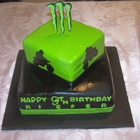Dirt Bike & Monster M Birthday Cake Dirt Bike & Monster M Birthday Cake. Thank you Jessi83 for your inspiration & help