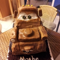 Tow Mater Tow Mater cake is for my son's 4th birthday! Devil's food cake with cookies & cream filling & chocolate buttercream, home...